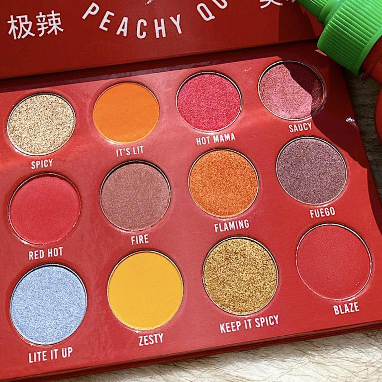 Peachy Queen Spicy Sriracha Palette Closer