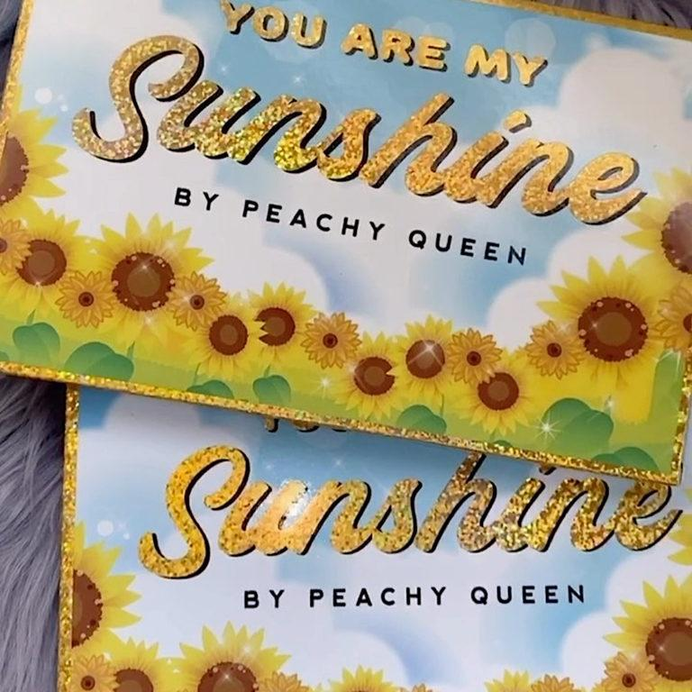 Peachy Queen You Are My Sunshine Palette Closed