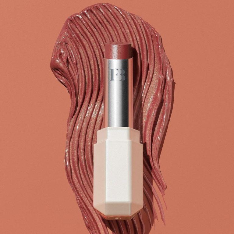 Fenty Beauty Slipshine Sheer Shiny Lipstick Promo close up