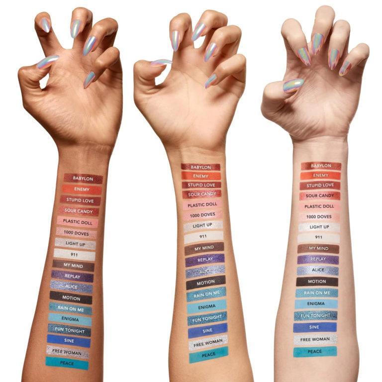 Haus Laboratories Stupid Love eyeshadow palette Arm Swatches