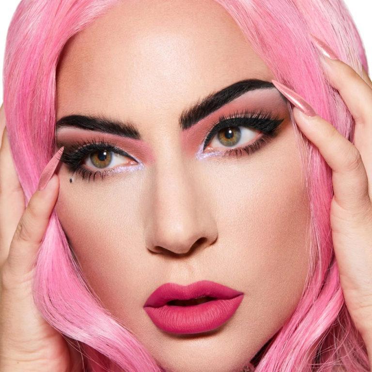 Haus Laboratories Stupid Love eyeshadow palette Lady Gaga model pink