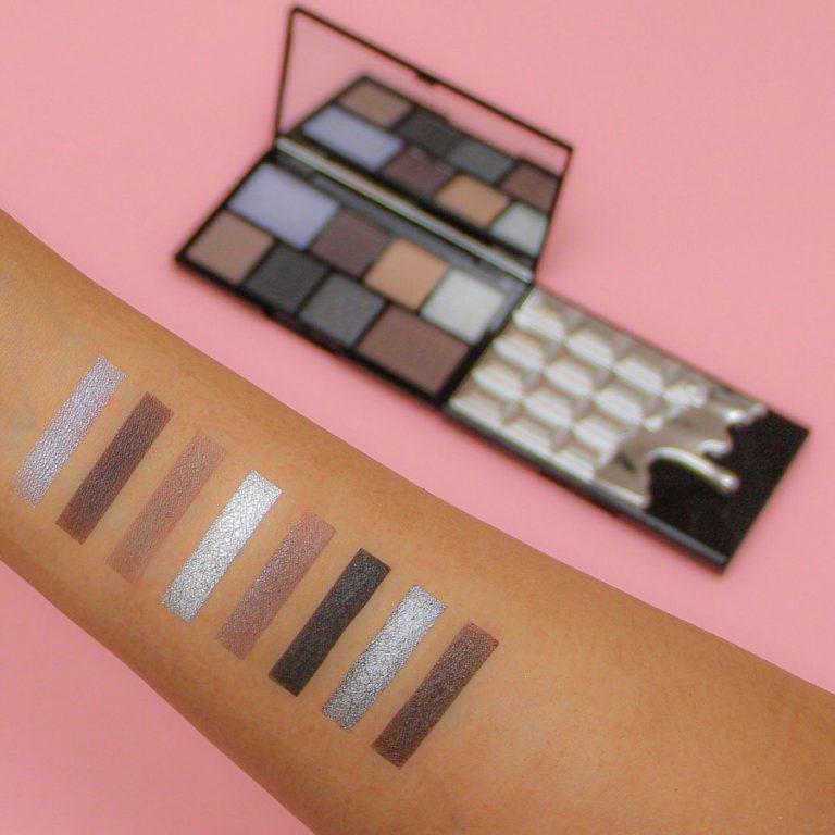 I Heart Revolution Black Pearl Mini Chocolate Eyeshadow Palette Arm Swatches