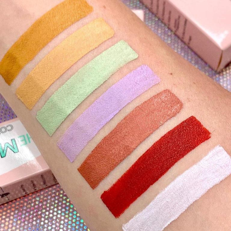 KimChi Chic Beauty The Most Concealers Color Correctors Arm Swatches
