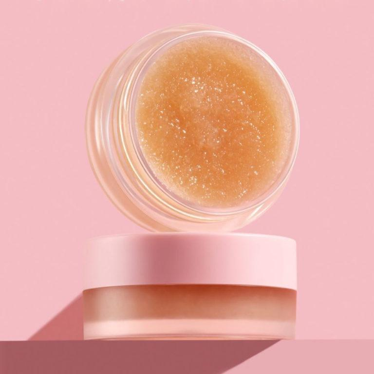 Kylie Skin Sugar Lip Scrub Open Vertical