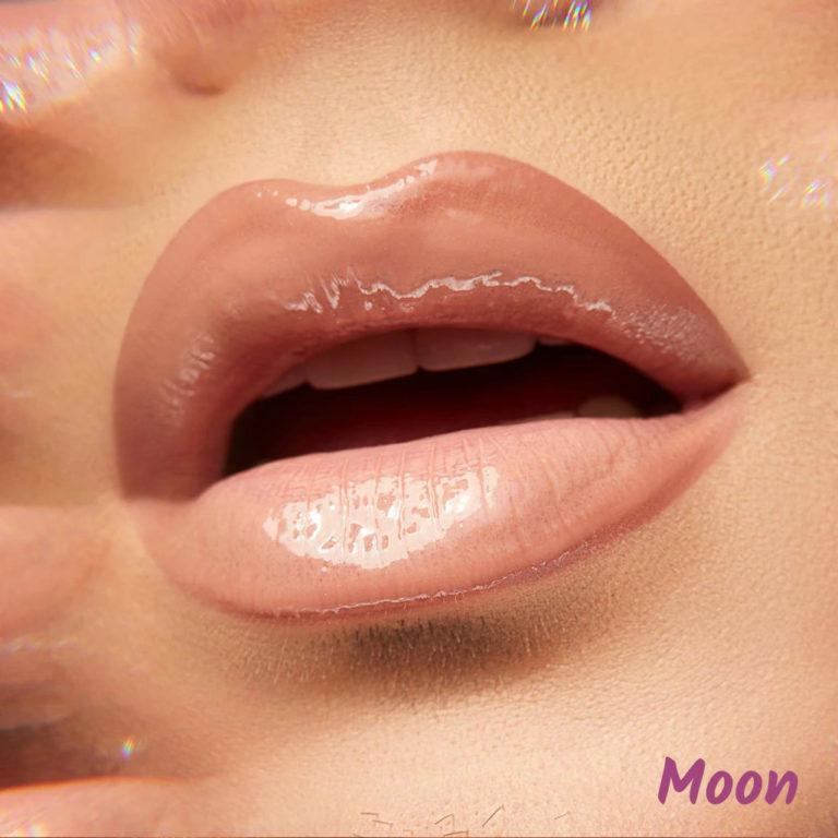 Lunar Beauty Moon Prism Blush Collection Lip Gloss In Moon Lip Swatch