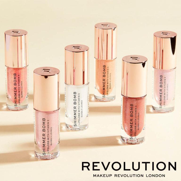 Makeup Revolution Shimmer Bomb Post Cover Logo