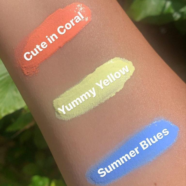 P. Louise Makeup Academy Pastel Base Arm Swatches With Names