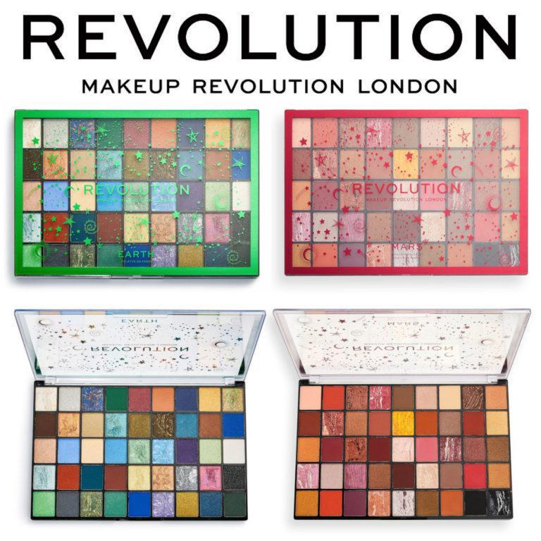 Revolution Earth & Mars Eyeshadow Palettes Cover