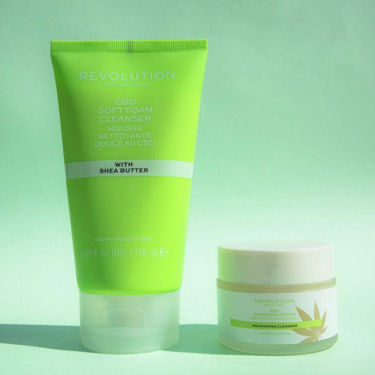 Revolution Skincare CBD Soft Foam Cleanser & Cleansing Cream promo