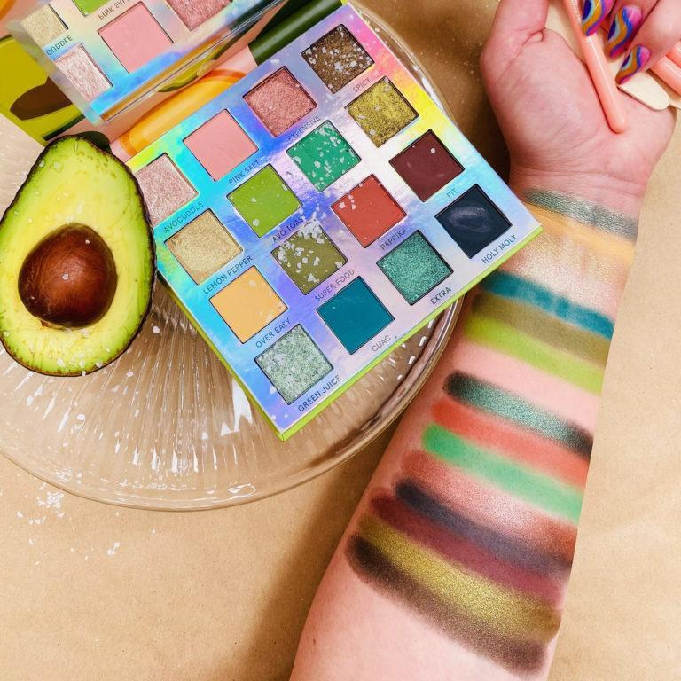 Weekend Vibes Avocado Toast Eyeshadow Palette Arm Swatches