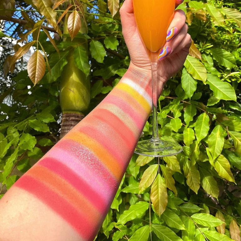 Weekend Vibes Mimosa Eyeshadow Palette Arm Swatches