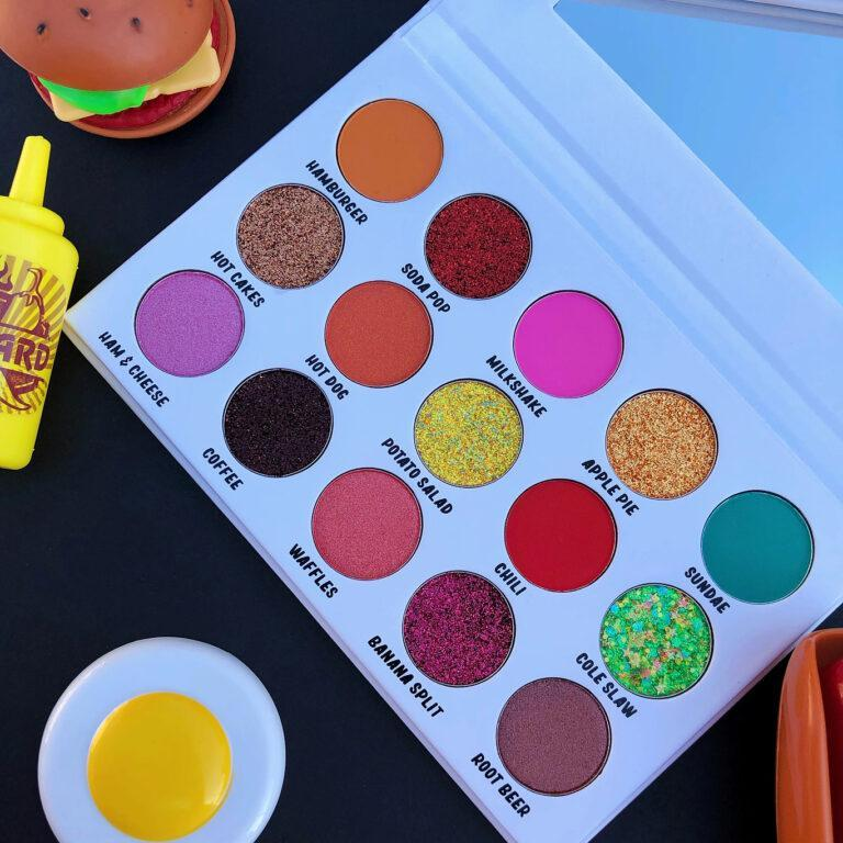 90s Baby Cosmetics Betty's Dinner Eyeshadow Palette Closer Angled