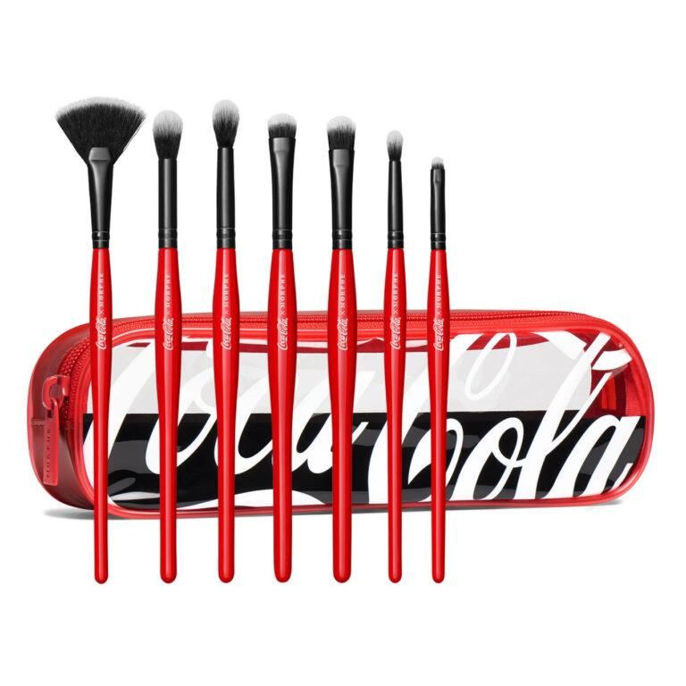 Coca Cola X Morphe Sweep It Real Brush Collection with bag