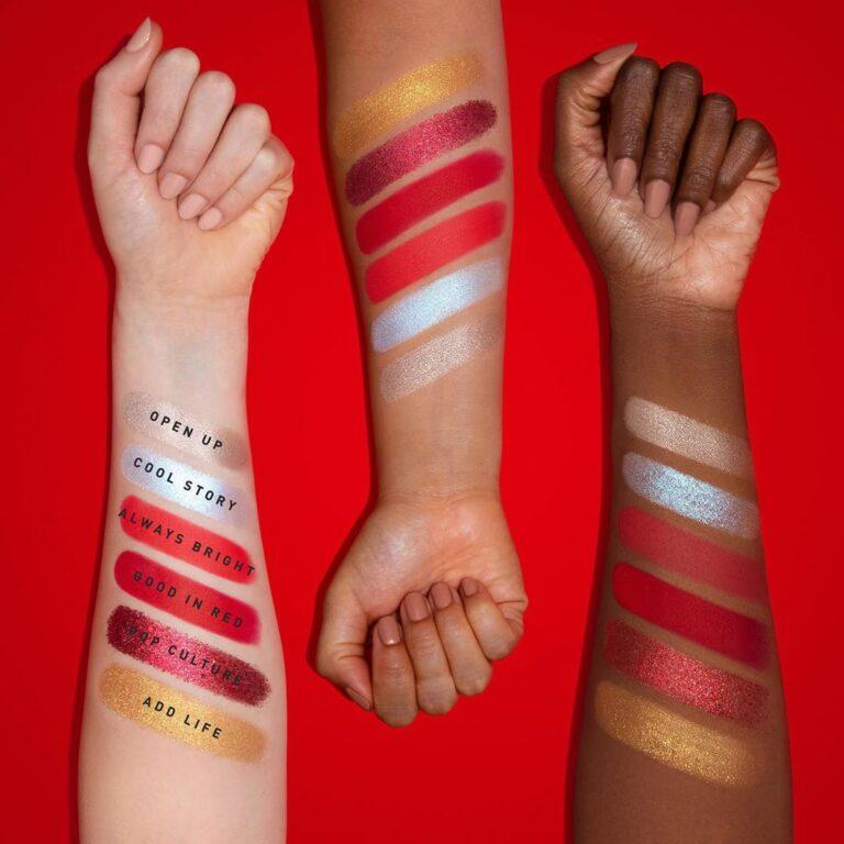 Coca Cola x Morphe Eyeshadow Palette Arm Swatches Row 1