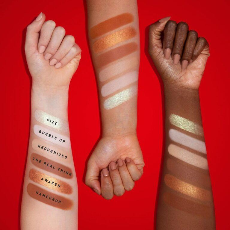 Coca Cola x Morphe Eyeshadow Palette Arm Swatches Row 2