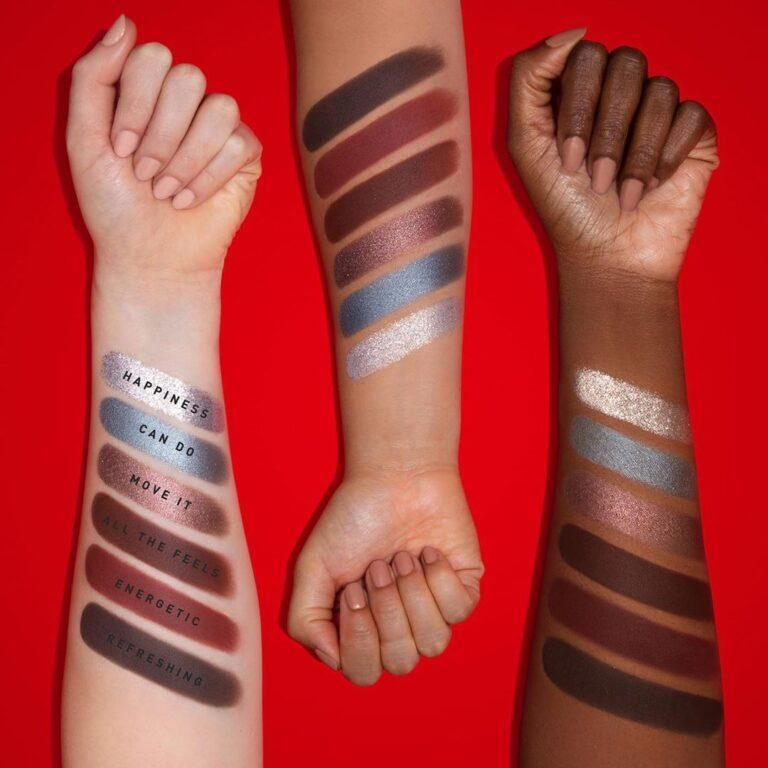 Coca Cola x Morphe Eyeshadow Palette Arm Swatches Row 3