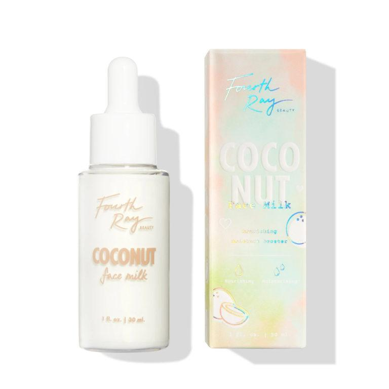 Colourpop Tie Dye Collection Fourth Ray Beauty Coconut Face Milk & box
