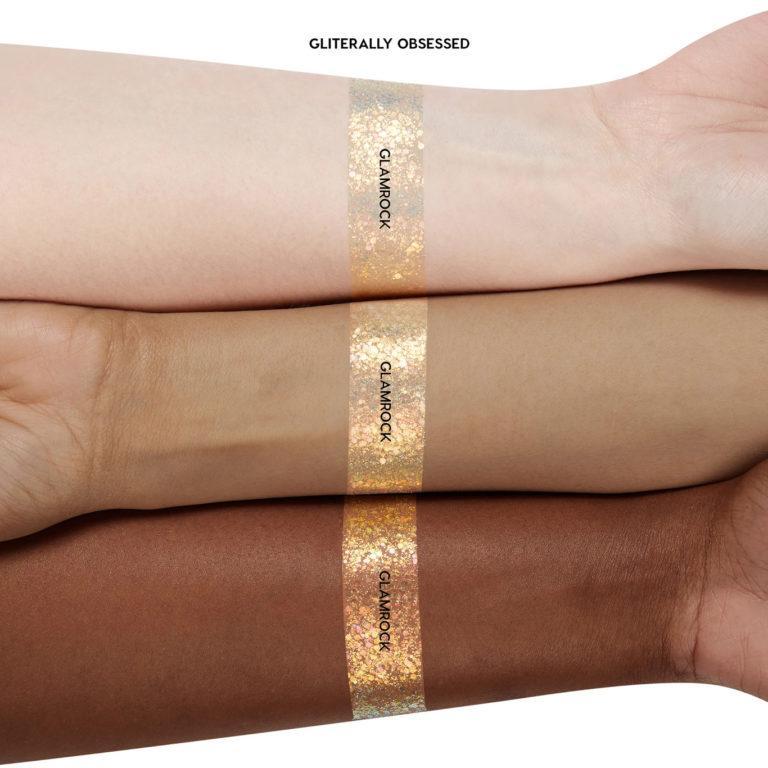Colourpop Tie Dye Collection Glamrock Glkitter Gel Arm Swatches