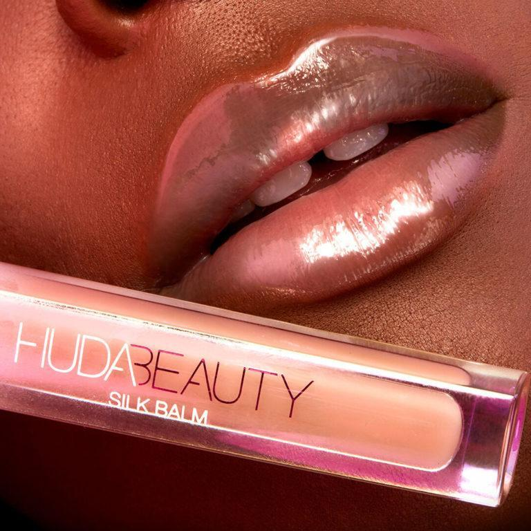HUDA Beauty Silk Hydra Plumping Lip Balm Lip Swatch Promo