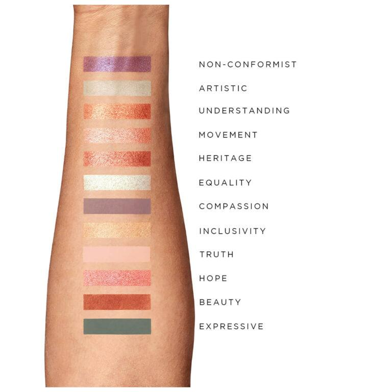 Illamasqua Movement Artistry Palette Arm Swatches