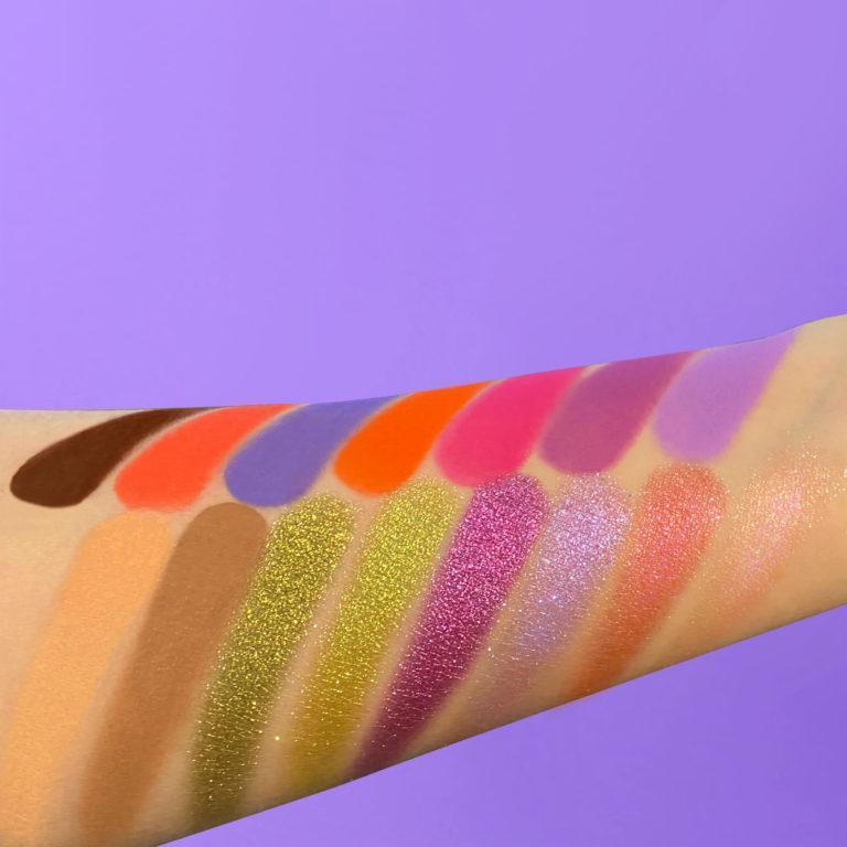 Kaleidos Makeup Make Your Escape Collection Escape Pod palette Arm Swatches