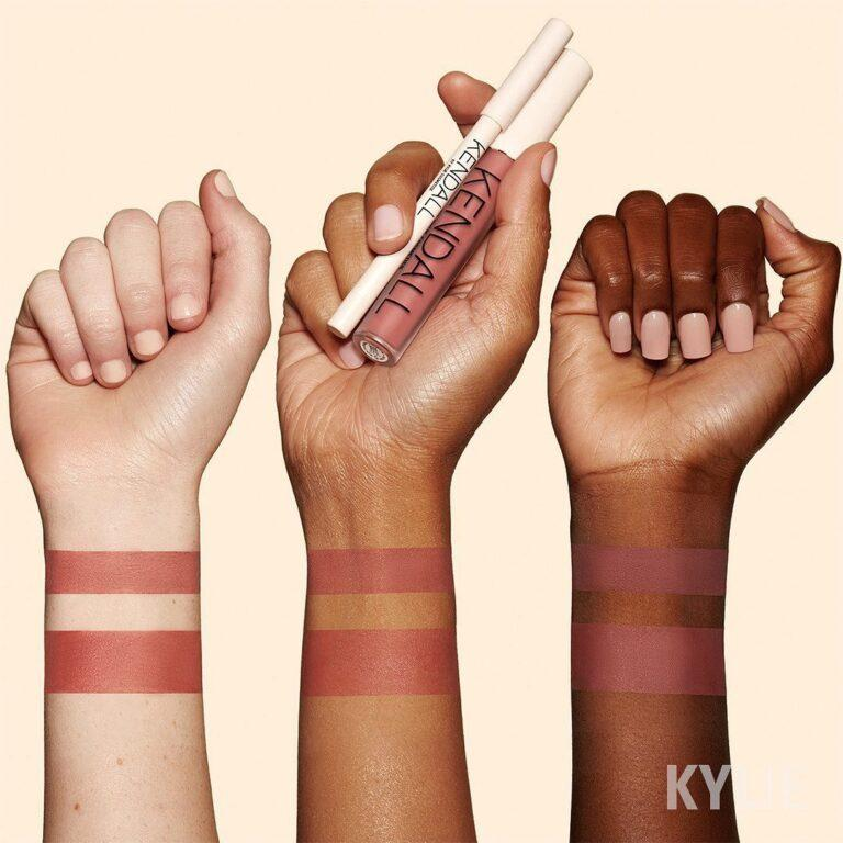 Kylie Cosmetics Kendall X Kylie Collection Lip Blush & Lip Liner in Sister Sister Arm Swatches