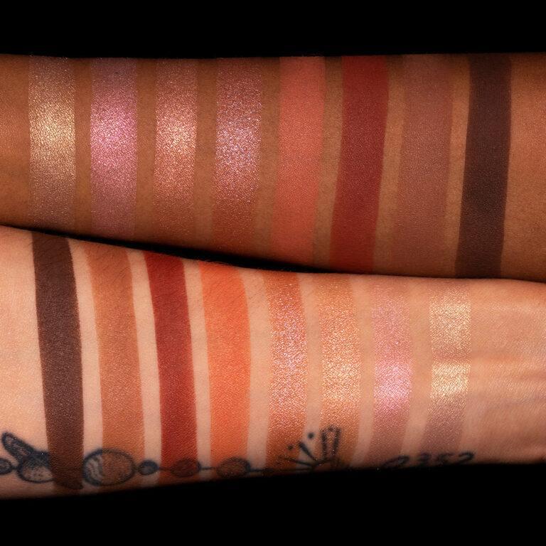 Linda Hallberg Cosmetics Infinity Glam Palette Arm Swatches