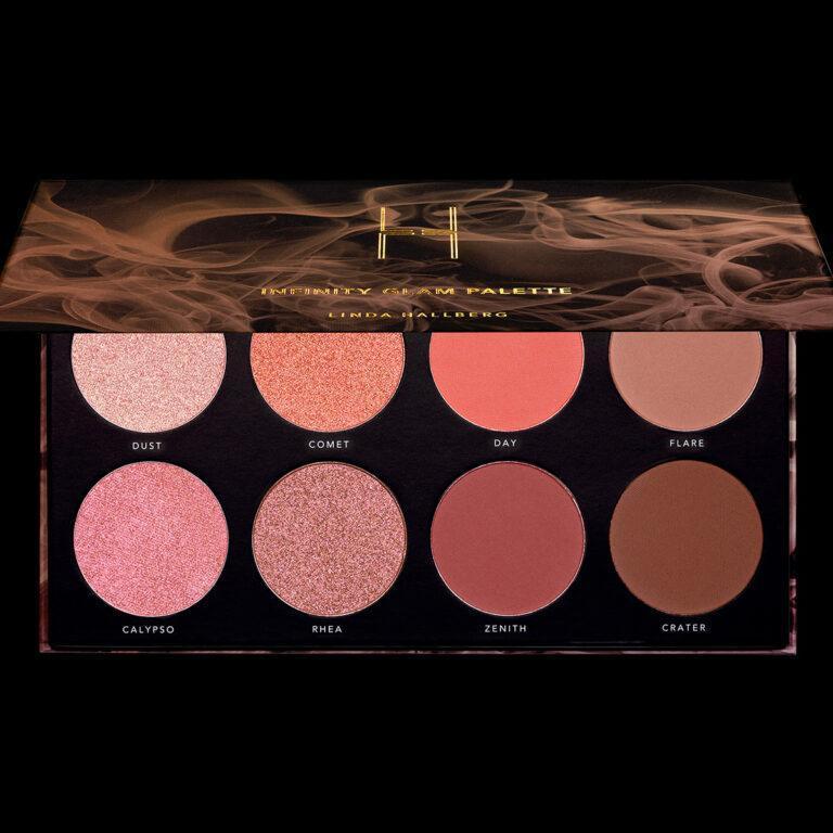 Linda Hallberg Cosmetics Infinity Glam Palette Open Front Closer