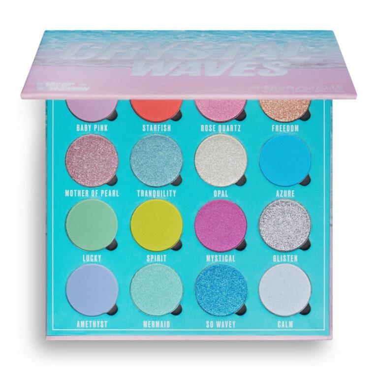 Makeup Obsession Crystal Waves Eyeshadow Palette Semi Open