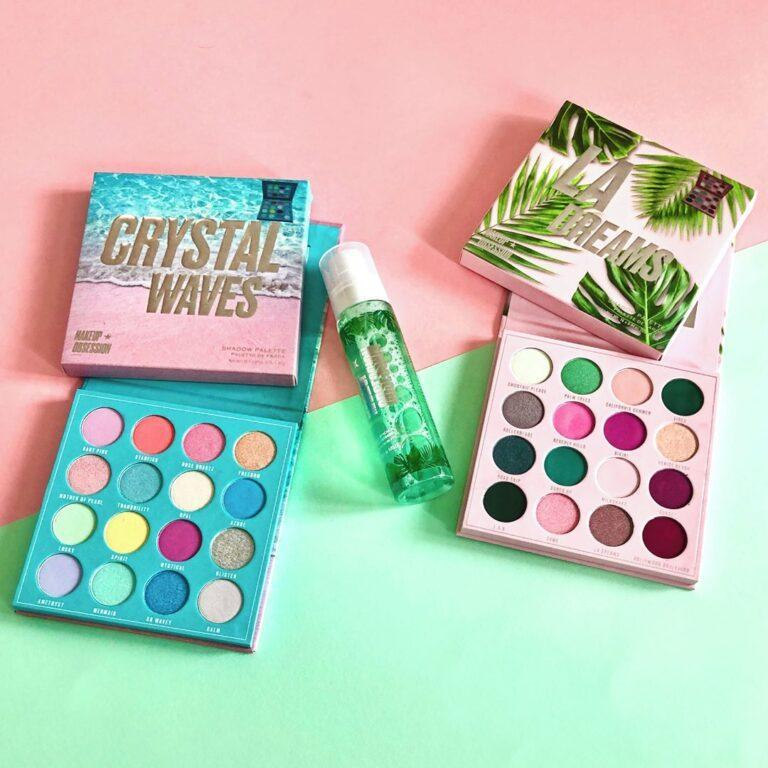 Makeup Obsession Crystal Waves & LA Dreams Eyeshadow Palettes, and Tropical Prime and Essence Mist Post Cover