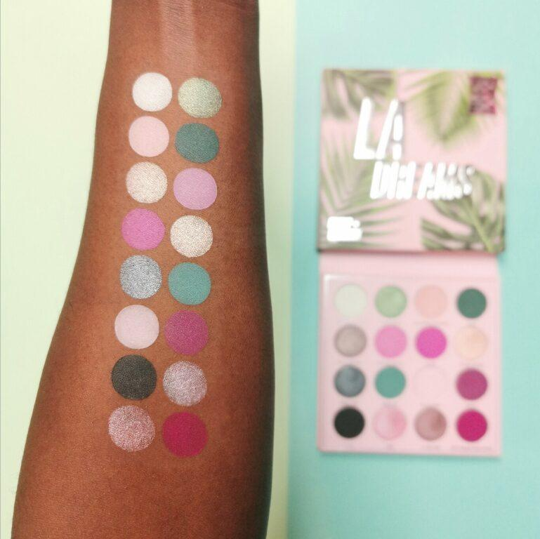 Makeup Obsession LA Dreams Eyeshadow Palette Arm Swatches