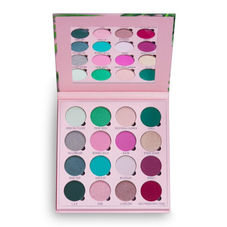 Makeup Obsession LA Dreams Eyeshadow Palette Open