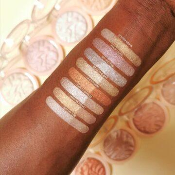 Makeup Revolution Reloaded Highlighter Arm Swatches Dark