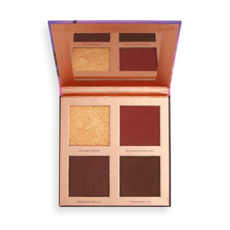 Makeup Revolution X Tammi Golden Hour Deep Dark Face Palette Open