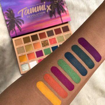 Makeup Revolution X Tammi Tropical Twilight Eyeshadow Palette Arm Swatches Row 3