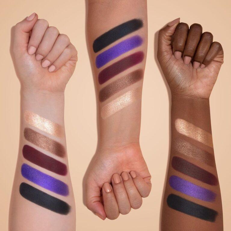 Morphe x Maddie Ziegler The Imagination Collection The Imagination Palette Arm Swatch Row 4