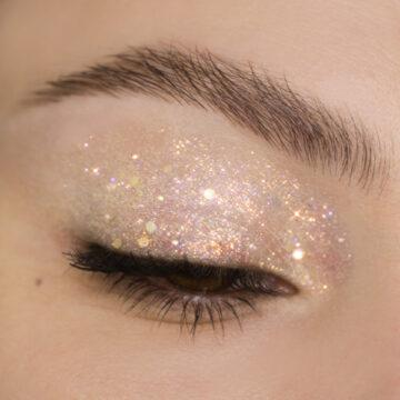 Nabla Cosmetics Miami Lights Glitter Palette Eye Swatch in Aries