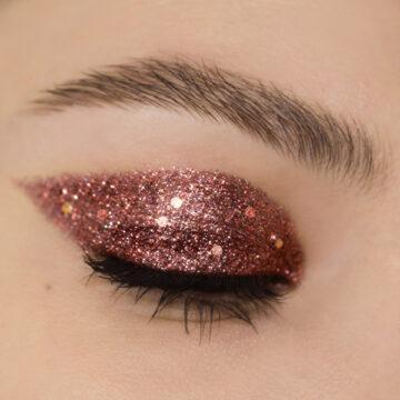 Nabla Cosmetics Miami Lights Glitter Palette Eye Swatch in Scorpio