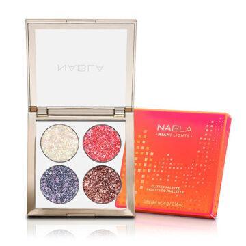 Nabla Cosmetics Miami Lights Glitter Palette With Cover