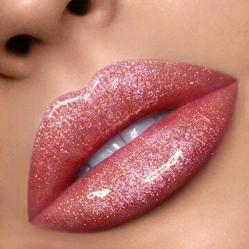 Nabla Cosmetics Miami Lights Shine Theory Lip Gloss in Toxic Love Lip Swatch