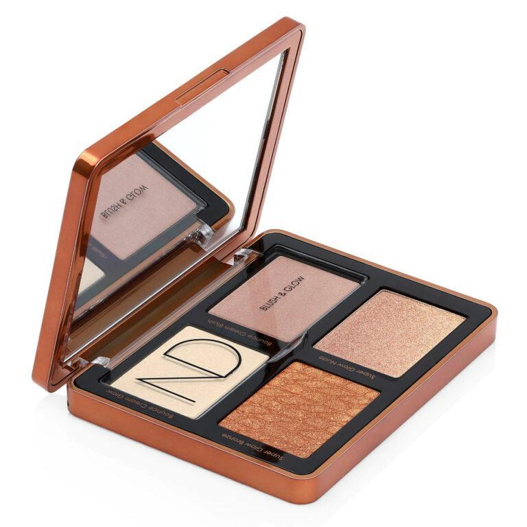 Natasha Denona Bronze Collection Bronze Cheek Blush & Glow Palette Open Anlged