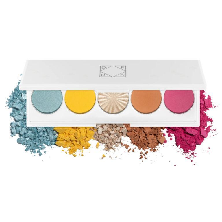 OFRA Cosmetics Signature Eyeshadow Palette Beachside Open With Crash Swatches