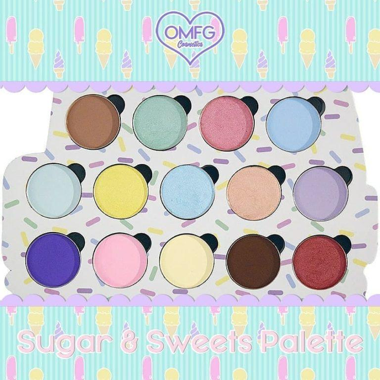 OMFG Cosmetics Sugar & Sweets Eyeshadow Palette Front
