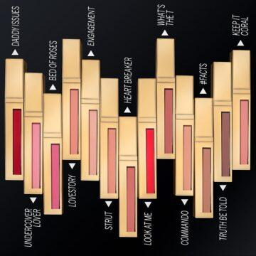 Scott Barnes Cosmetics Lip Fetish Matte Shade Range With Names