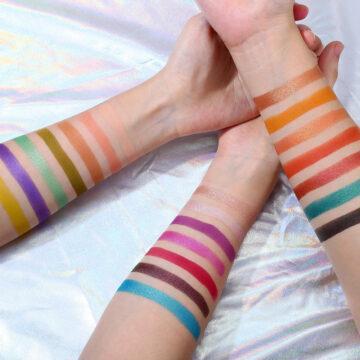 Ucanbe X Anwen Cellophane Eyeshadow Palette Arm Swatches
