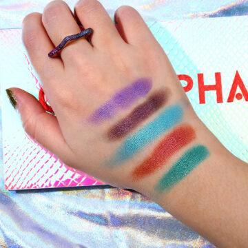 Ucanbe X Anwen Cellophane Eyeshadow Palette Hand Swatches