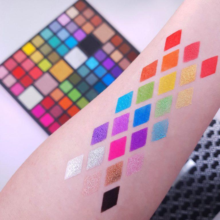 XX Revolution Eyeshadow Palette XXtravaganza Arm Swatches