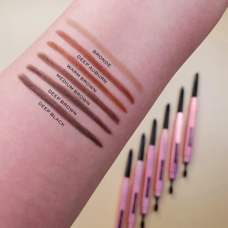 XX Revolution FauXX Brow Pencil Arm Swatches