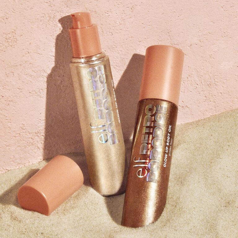 e.l.f. Cosmetics Retro Paradise Glow Up Body Oil Promo