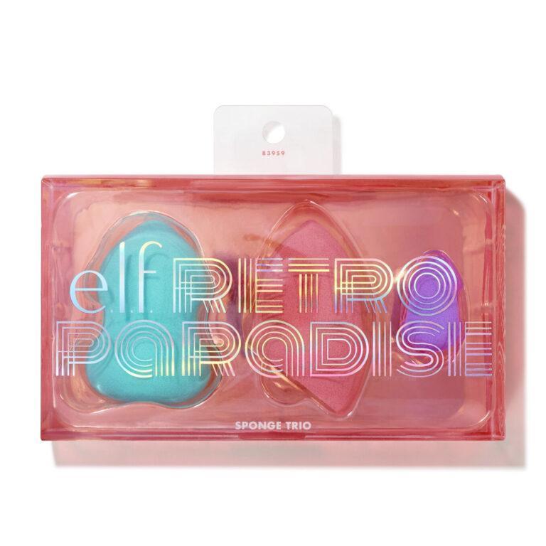 e.l.f. Cosmetics Retro Paradise Sponge Trio en la caja